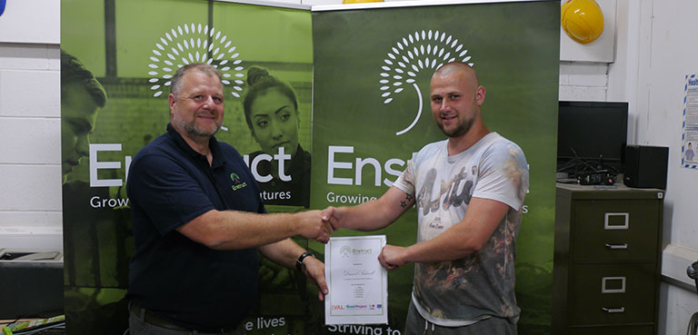 GREAT Participant receives his certificate