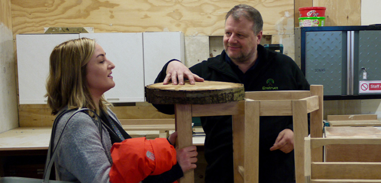 Learn skills like carpentry with GREAT and Enstruct