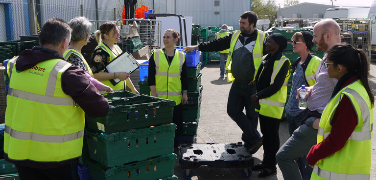 GREAT Project behind the scenes at Fareshare