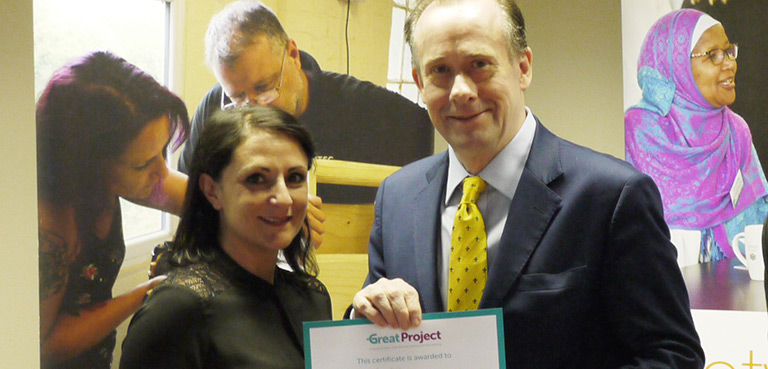 Lord Callanan visits the GREAT Project