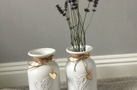 two vases upcycled by Team Manager Chantal
